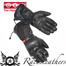 EXO STORM GUARD BLACK LEATHER HEATED MOTORCYCLE WALKING GLOVES