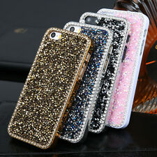 Luxury Bling Rhinestone Glitter Crystal Hard Back Case Cover For iPhone Samsung