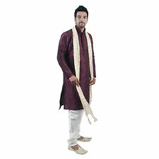 Men Indian Designer Bollywood Kurta Sherwani 2pc Suit