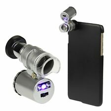60X Zoom Phone Camera Lens Microscope Magnifier With Case For iPhone 5/5S/6/Plus