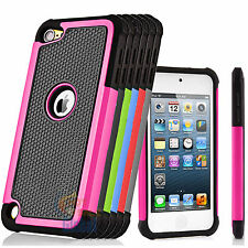 For Apple iPod Touch 5 5th Gen TPU Hybrid Defender Armor Shockproof Case Cover