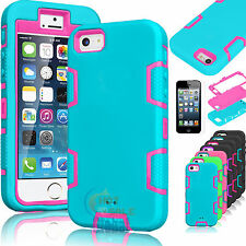 Defender Hybrid Rubber Hard Cover Case For Apple iPhone 6S  w/ Screen Protect
