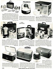 1973 AD THERMOS COOLER, ICE CHEST, FAUCET JUG, POLORON THERMASTER ICE CHEST, JUG