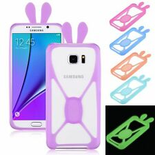 Glow in Dark Luminous Frame Cover Silicone Bumper Case For Samsung LG iPhone HTC