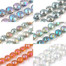 5/10Pcs Charm Rondelle Glass Crystal Crack Glass Round Loose Spacer Bead 14x10mm