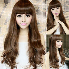 Sexy Women Girl Fashion Long Wavy Curly Hair Cosplay Costume Party Full Wig/Wigs