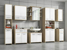 ELEGANT SELECTION OF MODERN WHITE BATHROOM STORAGE UNITS CABINETS AND CUPBOARD