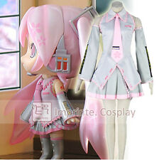 Vocaloid Sakura Miku Hatsune Miku Silver Dress Uniform Cosplay Costume Full Set