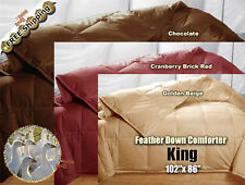 100% Goose Feather Down Comforters 95/5 Soft 550FP Bed Bedding Comforter, King