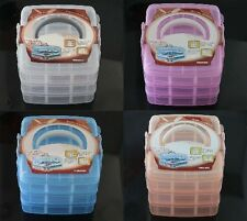 New 3 Layer 18 Compartments Hand Carry Plastic Storage Box Bead Display Case