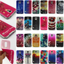 24 Designs Colorful Painted Soft TPU Silicone Rubber Back Case Cover For Samsung