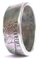 Coin Rings Made From 90% Silver Franklin Half Dollars 1948-1963 Size 8-14