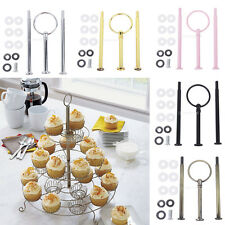 3-Tier Ring Cake Cupcake Plate Stand Handle Fitting Hardware For Party Wedding
