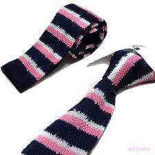 Mens Fashion Colorful Knit Knitted Neck Tie Narrow Slim Skinny Woven YJC0010