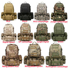 Outdoor 50L Molle Assault Tactical Military Rucksacks Backpack Camping Large Bag