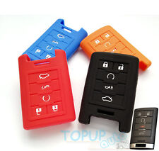 FIT FOR CADILLAC STS ATS DTS CTS SRX XTS SILICONE REMOTE KEY COVER CASE HOLDER