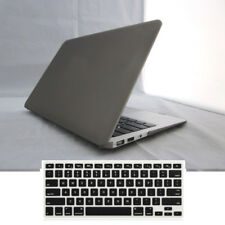 """2in1 Gray Rubberized Hard Case+Keyboard Cover for MacBook Air Pro 11"""" 13"""" Retina"""