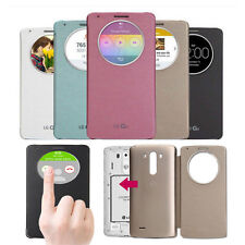 Creative Quick Circle Clear Window Flip Magnetic Case Cover For LG Optimus G3 G4