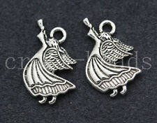 40/200pcs Tibetan Silver Lovely Angel Jewelry Finding Charms Pendant 19x14mm