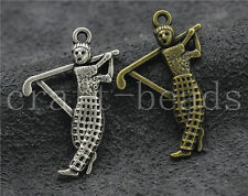 30/150pcs Tibetan Silver Lovely Golf Ambassador Jewelry Charms Pendant 31x21mm