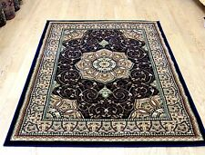BLUE Traditional Persian  Oriental Design Easycare Rug XS-XXL Large 50%OFF