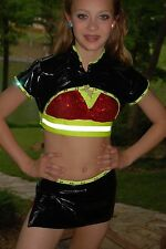 FIRE red black yellow custom jazz competition dance costume CL AXS AS