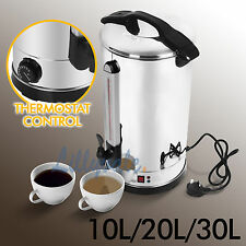 10/20/30L Electric Stainless Steel Catering Hot Water Boiler Tea Urn Commercial