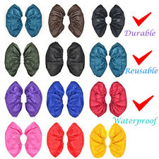 Waterproof Rain Shoes Cover Men Women Reusable Durable Thicken Flat Overshoes