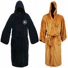 Adult Star Wars Jedi Sith Soft Fleece Hooded Bathrobe Gown Bath Robe Cloak Cape