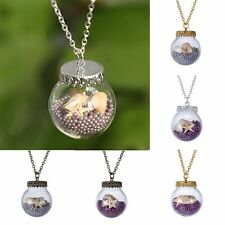 1000 Pearl Starfish Conch Long Sweater Chain Glass Necklace Pendant Jewelry Gift