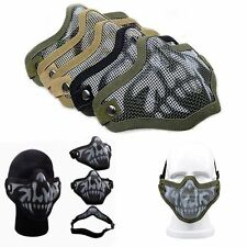 Paintball Airsoft Gear Half Face Strike Metal Mesh Tactical Protective Mask Game