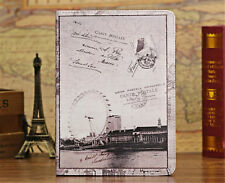 US SHIP Book Folio Patterns Leather Smart Case Cover Stand for Apple iPad 2/3/4