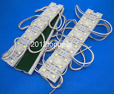 1-20PCS 5050 SMD Warm white/Cool white Module 4LED Light Waterproof Lamp 12VDC