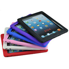 Hybrid Heavy Duty Hard/Soft Silicone Case Cover with Stand for iPad 2/3/4 Hot SL