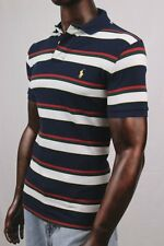 "Mens POLO Ralph Lauren Mesh ""Cruise Navy"" Stripe Shirt ~ NWT"