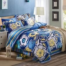 NEW Blue White Quilt/Doona/Duvet Cover Set - Single/Double/Queen/King Size Bed