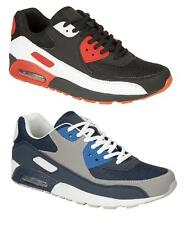 NEW MENS BOYS LACE UP RED/BLACK NAVY/GREY COMFY FASHIONABLE TRAINER SHOE