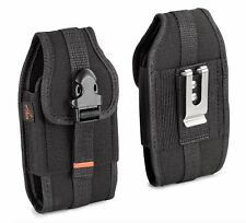 REIKO Vertical Heavy Duty Rugged Belt Clip Loops Case Pouch for Kyocera Phones