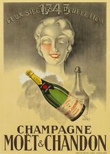 Champagne Moët & Chanon VINTAGE ALCOHOL PUB BAR METAL TIN SIGN POSTER PLAQUE