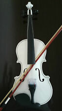 Full Size Natural Acoustic Violin Fiddle with Case Bow Rosin White Color