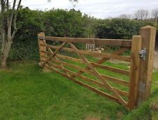 WILTSHIRE WOODEN 6 BAR DIAMOND BRACED FIELD FARM GATE CHOOSE SIZE LARCH DRIVEWAY