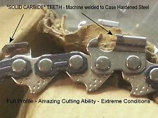 "*SOLID CARBIDE"" Chainsaw 3/8"" 050"" Type 72 - ANY LENGTH - NO Coated Junk VIDEO"