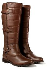 Redfoot Twin-Zip UK 4 & 5 Brown Leather Knee High Zippyboot Riding/Biker Boots