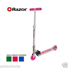 Scooter Razor A Kick Kids Adjustable Height Foldable Handlebars  PINK & BLUE