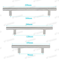 T Bar Solid Chrome Kitchen Cupboard Cabinet Drawer Door Handles 3Sizes Available