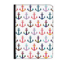 """Patchwork Anchors Pattern Universal Tablet 9-10.1"""" Leather Flip Case Cover"""