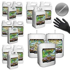 VARIOUS SIZES HUMBOLDT NUTRIENTS GROW MICRO BLOOM BASE + GLOVES & PIPETTE