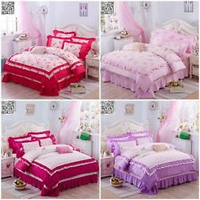 Purple Pink Quilt/Doona Cover Set Duvet Covers Single/Double/Queen Bed Linen New