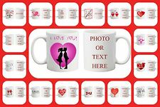 Personalised Valentines Day Love Gift Birthday Present Printing Photo Text  Mug