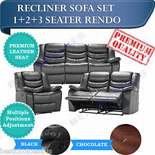 SOFA SET Recliner Sofa Lounge Chair mix Seater in Bonded Leather - RENDO